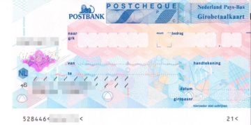 postbank cheque