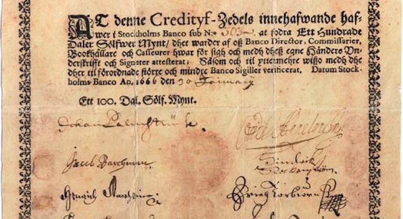 First European bank note